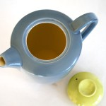 Poole two tone grey and lime green coffee/hot water jug with lid