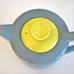 Poole two tone grey and lime green coffee/hot water jug