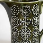 Portmeirion Totem Green Cream Jug detail