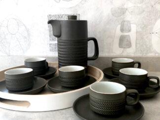 Denby Chevron coffee set